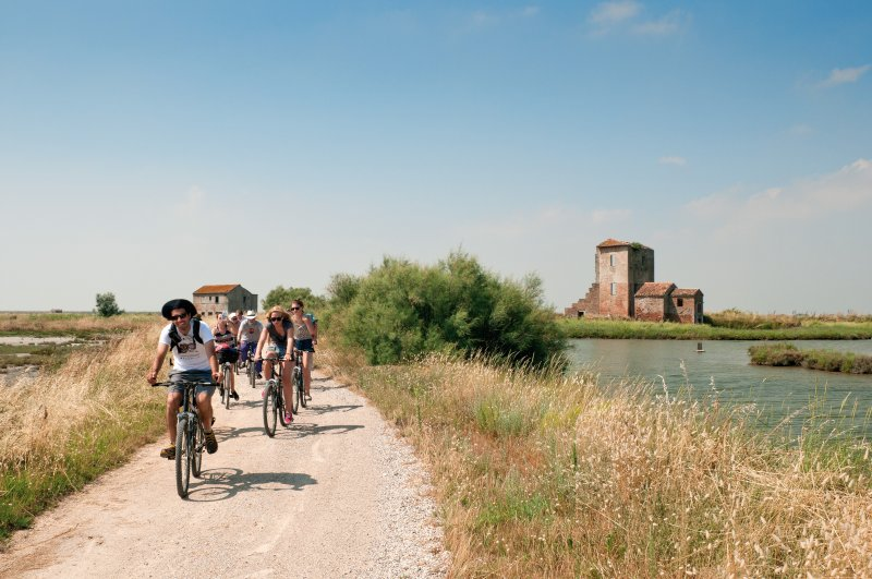 The Comacchio's Saline and the Lagoon